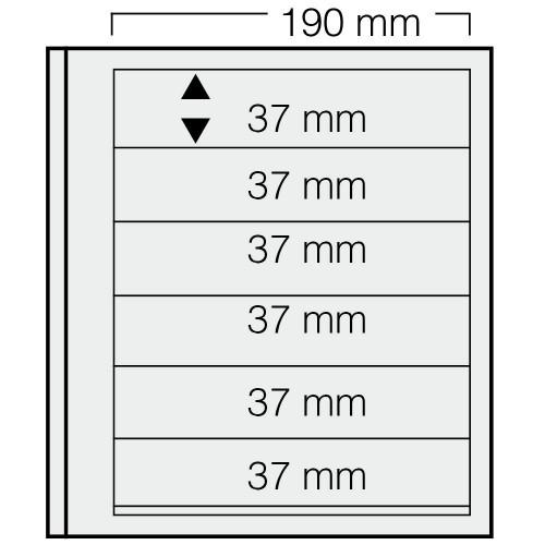 """Feuilles """"Spécial Dual""""- 6 Bandes - 37mm - Paquet de 5"""