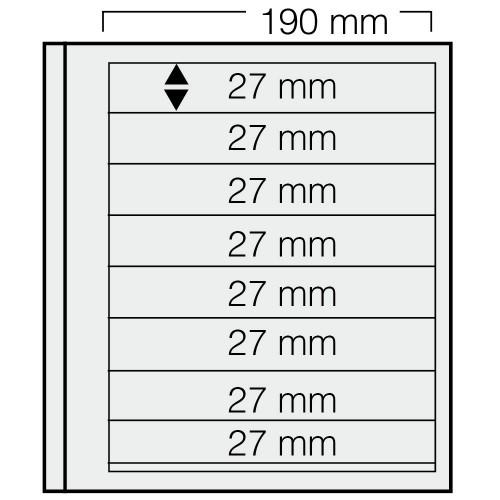 """Feuilles """"Spécial Dual""""- 8 Bandes - 27mm - Paquet de 5"""