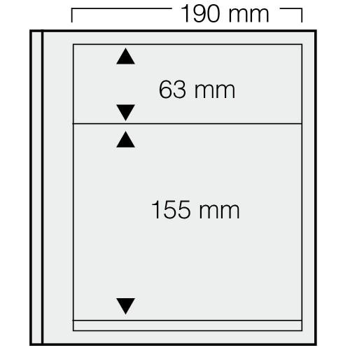 """Feuilles """"Spécial Dual""""- 63mm,155mm - Paquet de 5"""