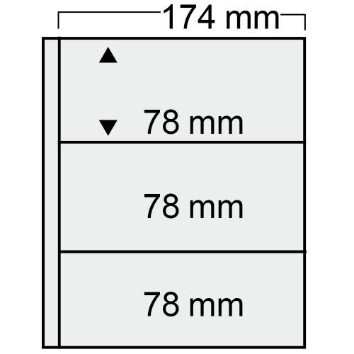 """Feuilles """"Compact"""" - 3 Blocs - Paquet de 10"""