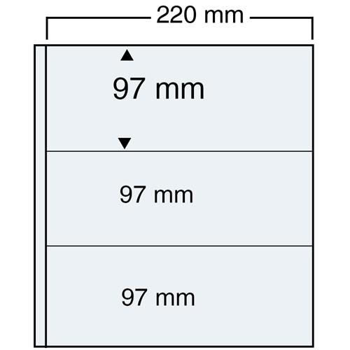 "Feuilles ""Compact A4"" - 3 Bandes - Paquet de 11"