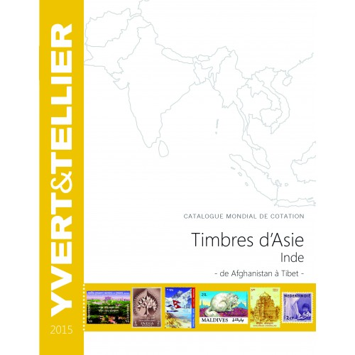 Timbres d'Asie INDE 2015