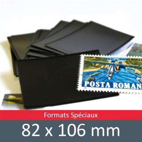 Pochettes simple soudure - Lxh:82x106mm (Fond noir)