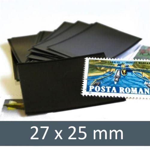 Pochettes double soudure - Lxh:27x25mm (Fond noir)