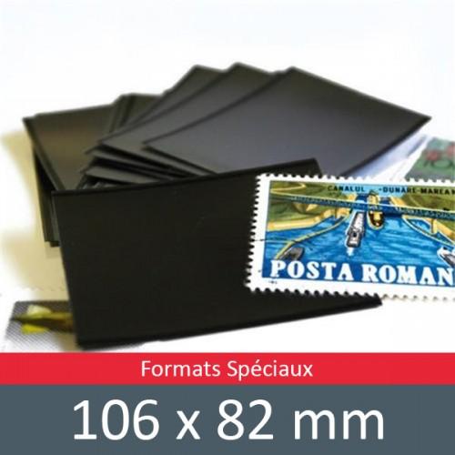 Pochettes double soudure - Lxh:106x82mm (Fond noir)