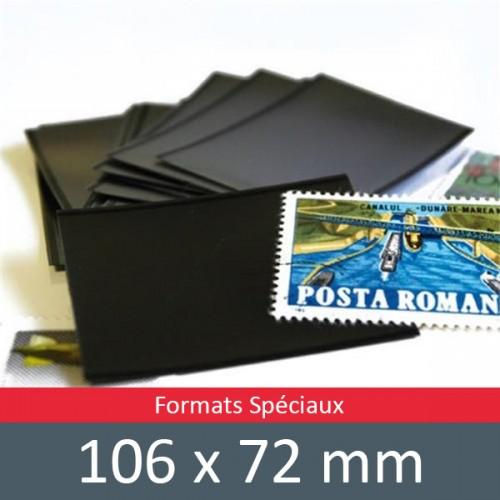 Pochettes double soudure - Lxh:106x72mm (Fond noir)
