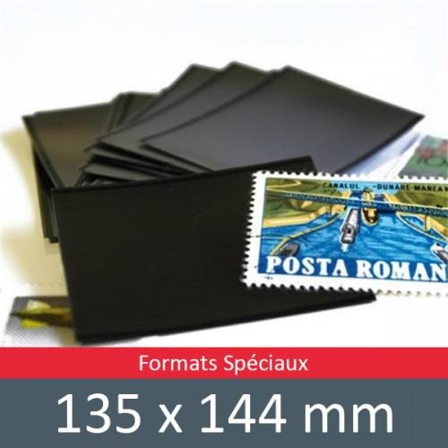 Pochettes double soudure - Lxh:135x144mm (Fond noir)