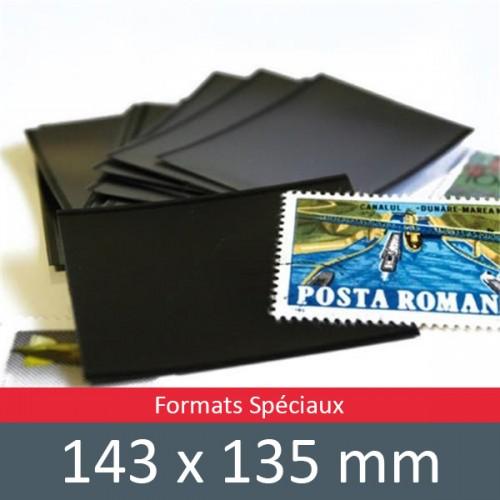 Pochettes double soudure - Lxh:143x135mm (Fond noir)