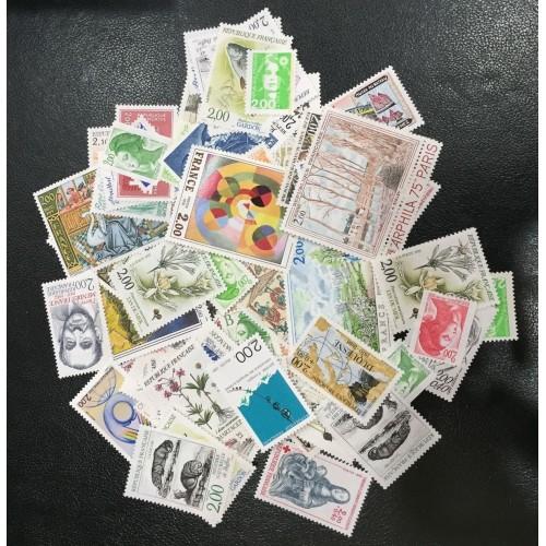 Lot de faciale 100 timbres à 2 Francs