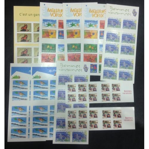 Lot de faciale 100 timbres à 0,50€ (50€) en Carnets pour Affranchissement