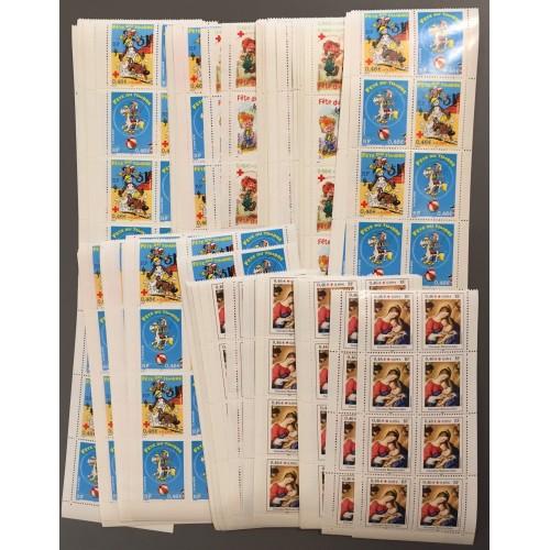 Lot de faciale 100 timbres de 3,68€ (8x0,46€) en Carnets