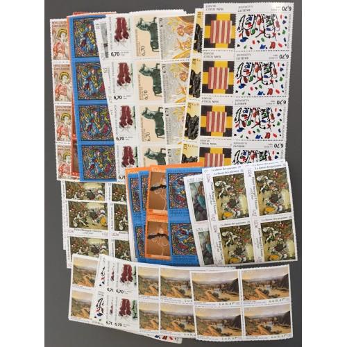 Lot de faciale 100 timbres à 28 Francs