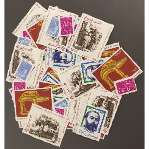 Lot de faciale 72 timbres à 1,30€ pour Affranchissement