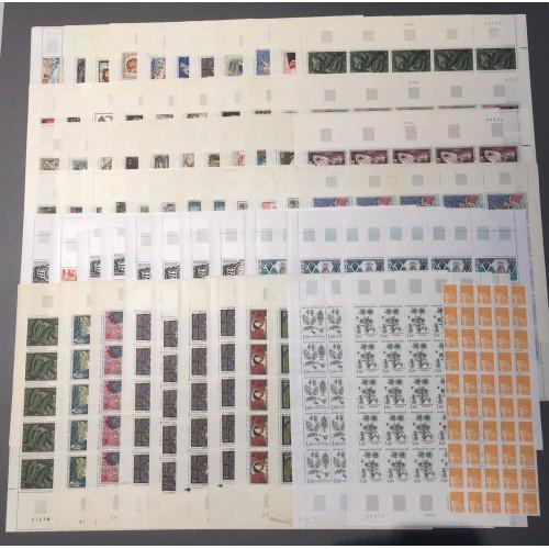 Lot de faciale en feuilles 2175 timbres à 1 Franc