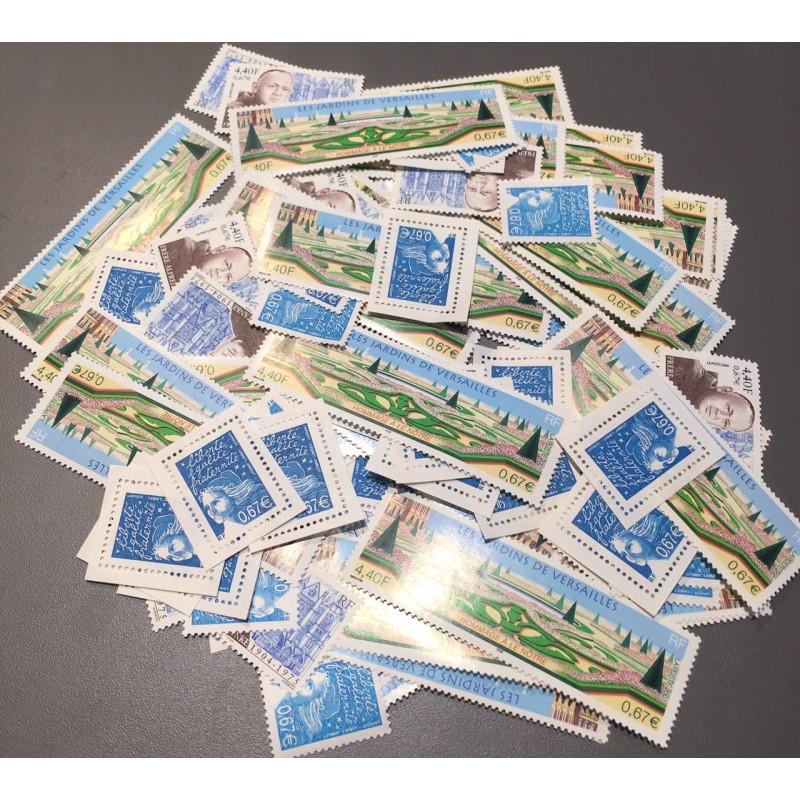 Lot de faciale 100 timbres de 0,67€ (67€)