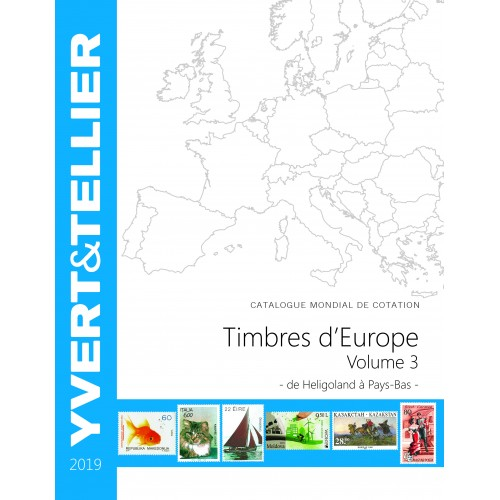 Timbres d'Europe -TOME 2019 - Volume 3 - H à P